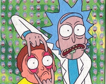 Psychedelic Blotter Art Print perforated sheet 225 hits Rick And Morty Acid Free paper
