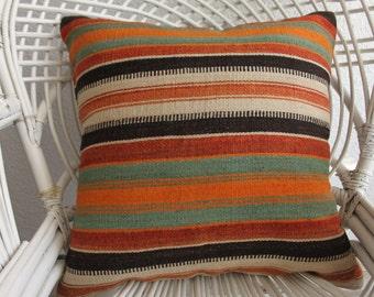 boho throw pillow cushion euro sham vintage+kilim 20x20 brown turkish kilim pillow body pillows kussens body pillows orange cushion 805