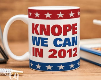 Parks and Recreation mug inspired by Leslie Knope campaign