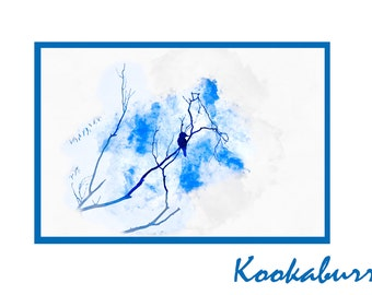 Kookaburra Watercolour - Canvas/Decal/Vinyl/Poster