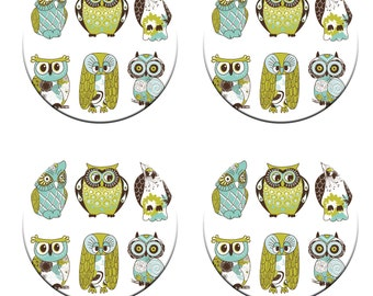 A pack of 4 beautiful owls  design Pattern weights Ideal for weighing down patterns on delicate fabrics no need for pins