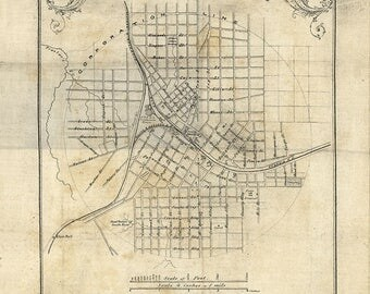 1864 Map of Atlanta Georgia