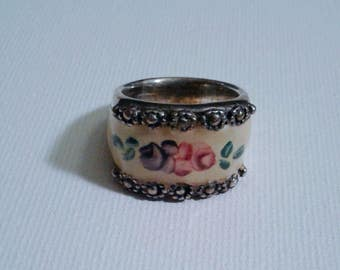 Joseph Esposito Enamel Sterling Ring