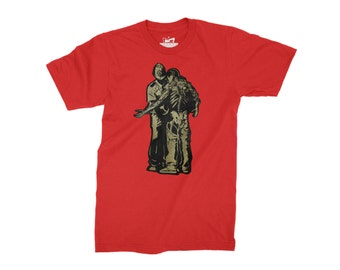 Activist Street Art Mens T-Shirt - Black/White Gold Human Rights Street Art Print