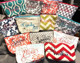 personalized, makeup, monogrammed, monogram, customized, makeup bag, cosmetic bag, bridal gift, gadget pouch,multipurpose, gift ideas