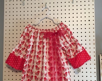 Partridge in a Pear Tree Christmas dress - 3T