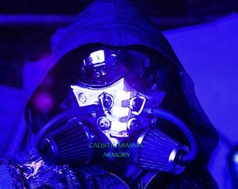 SINDICATE LED Cyberpunk Cosplay Mask