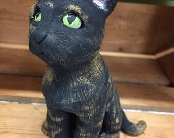 Custom Pet Sculpture, Clay Cat Replica, Pet Memorial, Handmade Cat Figurine, Dog, Personalized Pet Sculpture