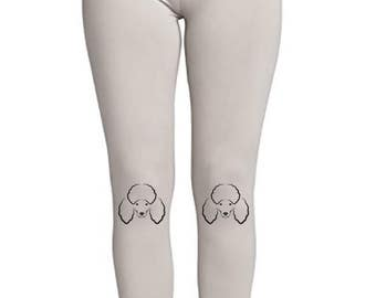 Poodle Face! - Soft Ladies High Waist Leggings