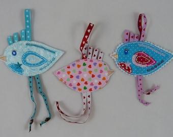 Embroidery bag bird 10 x 10 frame