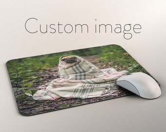 Custom Photo Mouse Pad For Dog Lovers, Customized Pet Lover Photo MousePad, Custom Pet Photo MousePad, Dog Picture on Mouse Pads, Pet Lovers
