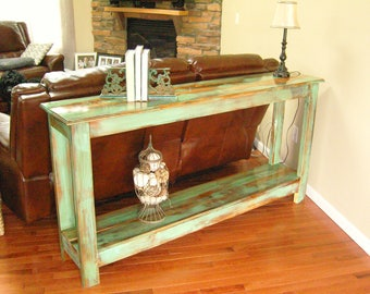 Items similar to SOLD SOLD Vintage shabby chic sofa table entry