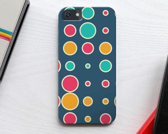 Dots Galaxy S7 Case, Polka iPhone 7 Case, Retro Dots Pattern iPhone 7 Plus, Slim Galaxy S6 Case, Circle iPhone 6s Case,  Kids iPhone SE Case