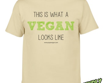 This is what a vegan looks like - Men's t-shirt - NATURAL
