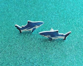 SALE - Blacktip Shark studs