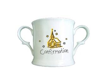 Church Confirmation Bone China Loving Cup
