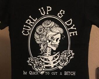 Curl Up & Dye Ladies crew neck boyfriend T-shirt