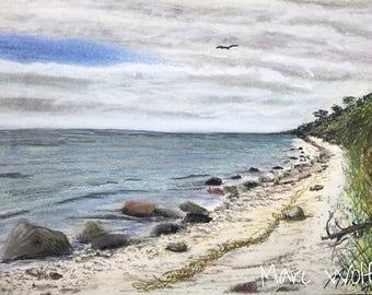 Ostseeküste, Pastellmalerei