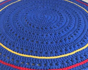 Crocheted Doily Rug Tshirt Yarn 107cm