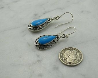 Sterling Silver Drop Earrings (pierced)