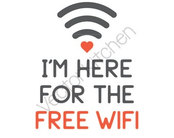 free wifi poster etsy. Black Bedroom Furniture Sets. Home Design Ideas