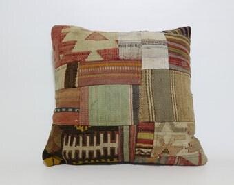 Decorative Kilim Pillow Throw Pillow Bed Pillow 20x20 Vintage Turkish Kilim Pillow Anatolian Kilim Pillow SP5050-1033