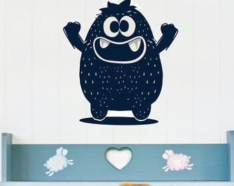 Happy Monster Kids Wall Decal Sticker PC0423
