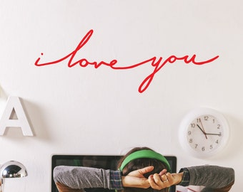 I Love You Wall Decal Sticker DJ0715