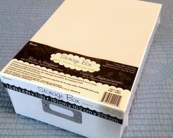 Storage Box; photos, stickers, scrapbooking supplies,