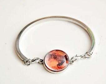 Mars Bracelet, Solar System Bracelet, Planet Bracelet, Astronomy Bracelet, Mars, Sci Fi Jewelry, Galaxy Bracelet, Outer Space Jewelry