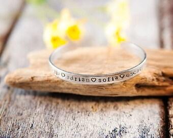 Custom Name Bracelet, name bracelet, mom gift, step mom gift, kids name bracelet, name cuff, custom name jewelry, mothers day gift