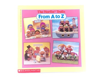 1993 The Norfin Trolls From A to Z Guide Book Handbook Scholastic Paperback Vintage 90s Original RARE 90s Classics TV Show Trollz Original