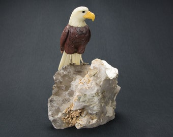 Gemstone Bird Sculpture - Large Eagle 16100004