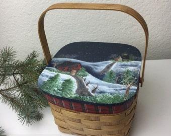 90's Pesky Bear Hand Basket