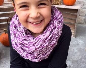 Pink & Purple Infinity scarf (Child - Medium)