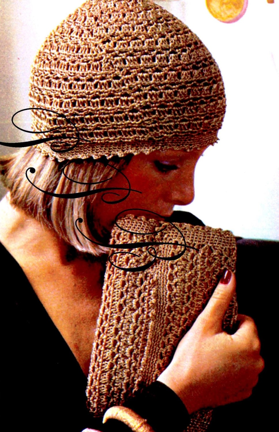 c1f0d47334d Crochet Hat and Bag    Evening Cap and Clutch    PDF Crochet Pattern     Digital Download    1970 s Pattern from PastPatternsBoutique on Etsy Studio