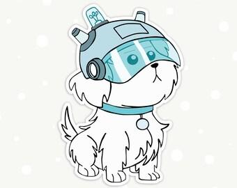 Rick and Morty Pet Dog Snuffles/Snowball Die-Cut Vinyl Sticker