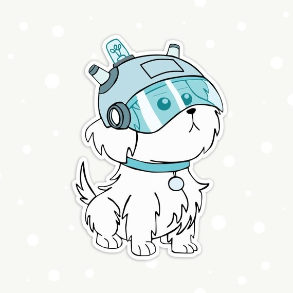 Rick And Morty Pet Dog Snuffles Snowball Die Cut Vinyl Sticker