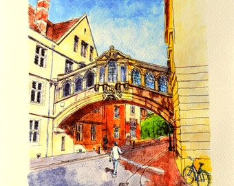 The Hertford College Bridge Oxford - Bridge of Sighs