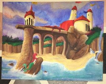Little Mermaid Original Canvas Painting