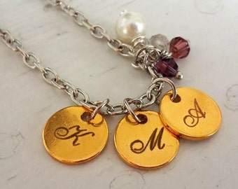 Mother's day gift , gift for mom ,Lazer print necklace , Handmade necklace , Name Necklace ,Gift for mom , Mom Gift Idea , child necklace