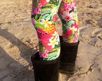 Fruit Printed Leggings. Girls Leggings With Fruits and Flowers, Floral Toddler Leggings For Girls, Girls  Tights, Legging As Pants