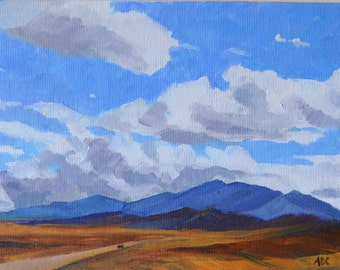 Wyoming landscape oil painting western art american impressionism