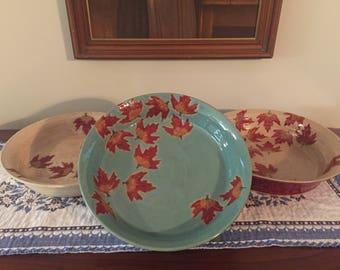 Fall Leaf pie plate