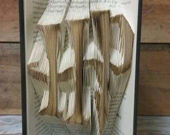 "Harry Potter ""HP"" Folded Book Art"