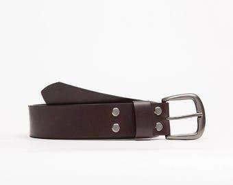 Handcrafted leather belt // Florida