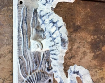 Cast Iron Distressed Seahorse Door Knocker