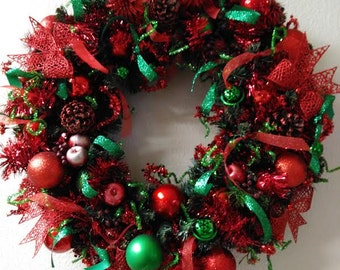 Christmas Wreath Red/Green