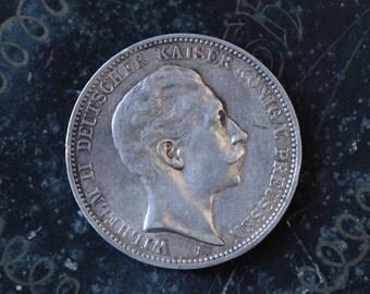 3 Mark - Wilhelm II, 1910, Prussia.