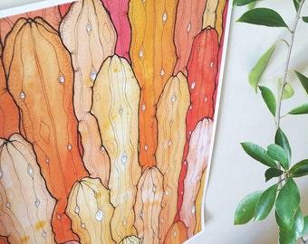 Cactus Cacti Gloss Print